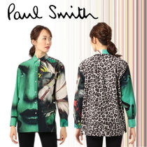 Paul Smith Leopard Patterns Casual Style Long Sleeves Cotton