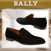 BALLY Plain Toe Moccasin Suede Plain Loafers & Slip-ons