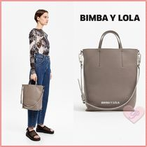 bimba & lola Casual Style A4 2WAY Leather Totes
