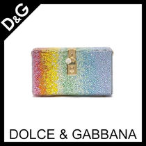 Dolce & Gabbana Chain Plain Party Style With Jewels Elegant Style Clutches