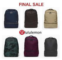 lululemon Casual Style Nylon A4 Plain Office Style Backpacks
