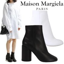 Maison Margiela Tabi Casual Style Blended Fabrics Plain Leather Block Heels