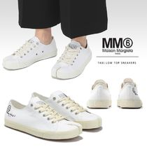 MM6 Maison Margiela Round Toe Rubber Sole Lace-up Casual Style Plain