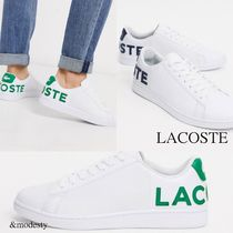 LACOSTE Street Style Plain Leather Sneakers