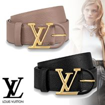 Louis Vuitton Casual Style Unisex Plain Leather Elegant Style