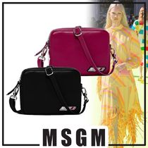 MSGM Casual Style Faux Fur 2WAY Shoulder Bags