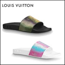 Louis Vuitton Monogram Shower Shoes PVC Clothing Flipflop Logo