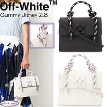 Off-White Casual Style Street Style 2WAY Plain Leather Shoulder Bags