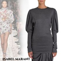 Isabel Marant Casual Style Wool Long Sleeves Plain Medium Elegant Style