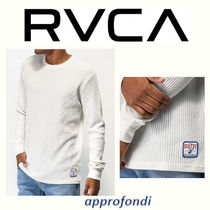 RVCA Crew Neck Pullovers Street Style Long Sleeves Cotton