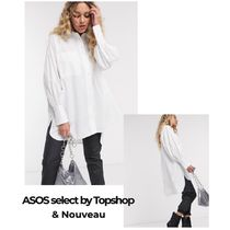 TOPSHOP Casual Style Puffed Sleeves Long Sleeves Plain Cotton Medium