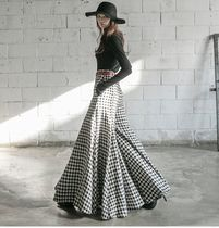 DINT Flared Skirts Gingham Glen Patterns Other Check Patterns