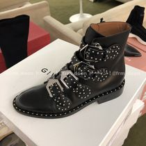 GIVENCHY Studded Plain Leather Ankle & Booties Boots