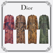 Christian Dior Casual Style Long Sleeves Long Party Style Elegant Style