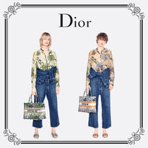 Christian Dior Casual Style Long Sleeves Cotton Party Style Elegant Style