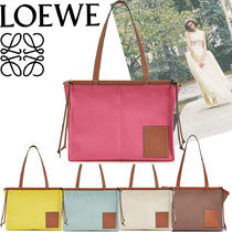 LOEWE Casual Style Canvas Plain Totes