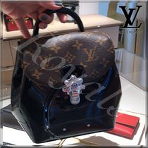 Louis Vuitton MONOGRAM Monogram Canvas Blended Fabrics Plain Leather Backpacks