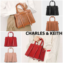 Charles&Keith Casual Style Faux Fur 2WAY Plain Other Animal Patterns