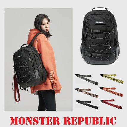 Casual Style Unisex Street Style Plain Backpacks