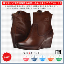 FRYE Round Toe Casual Style Plain Wedge Boots