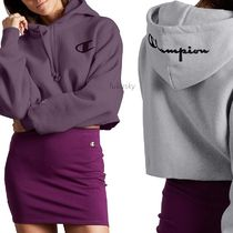 CHAMPION Short Sweat Street Style Long Sleeves Logo Cropped