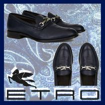 ETRO Moccasin Plain Leather Loafers & Slip-ons