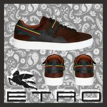 ETRO Fur Leather Sneakers