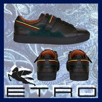 ETRO Blended Fabrics Leather Sneakers