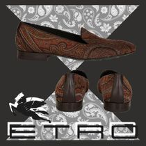 ETRO Paisley Loafers Blended Fabrics Leather Loafers & Slip-ons
