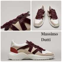 Massimo Dutti Platform Round Toe Rubber Sole Casual Style Leather