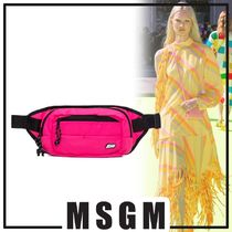 MSGM Casual Style Bi-color Hip Packs