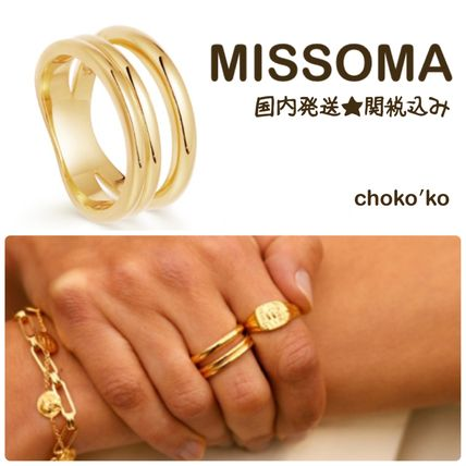 Casual Style 18K Gold Elegant Style Rings