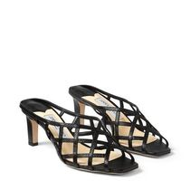 Jimmy Choo Square Toe Casual Style Leather Party Style Elegant Style