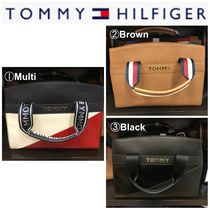 Tommy Hilfiger Casual Style Plain Office Style Totes
