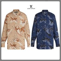 Louis Vuitton Camouflage Monogram Long Sleeves Shirts