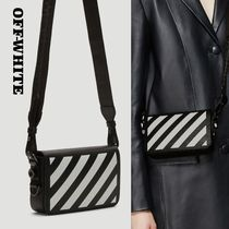 Off-White Stripes Casual Style Street Style Leather Shoulder Bags