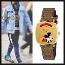 GUCCI GG Supreme Unisex Street Style Collaboration Watches Watches