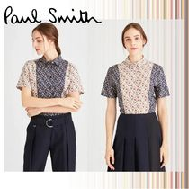 Paul Smith Flower Patterns Casual Style Cotton Short Sleeves
