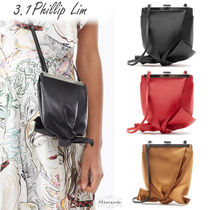 3.1 Phillip Lim 2WAY Plain Leather Office Style Elegant Style Crossbody Logo