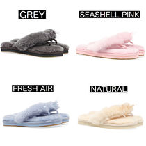 UGG Australia Casual Style Sheepskin Plain Logo Shoes
