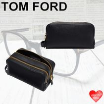 TOM FORD Casual Style Unisex Street Style Plain Leather Office Style