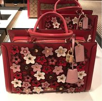Coach Flower Patterns 2WAY Leather Elegant Style Handbags