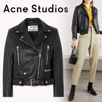 Acne Short Leather Biker Jackets
