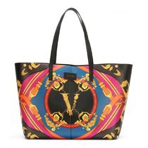 VERSACE Leather Elegant Style Crossbody Shoulder Bags