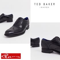 TED BAKER Wing Tip Street Style Plain Leather Oxfords