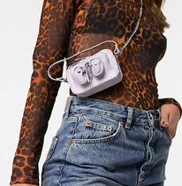 NUNOO Casual Style Chain Leather Shoulder Bags