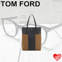 TOM FORD Casual Style Street Style A4 2WAY 3WAY Leather Khaki Totes