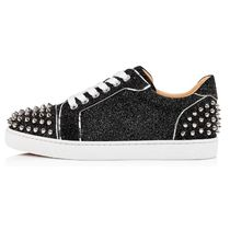Christian Louboutin Round Toe Rubber Sole Casual Style Party Style Office Style