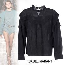 Isabel Marant Stripes Silk Long Sleeves Cotton Medium Elegant Style