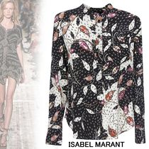 Isabel Marant Flower Patterns Paisley Silk Long Sleeves Medium